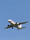 Avião comercial branco Airbus A319 Imagem de Stock Royalty Free