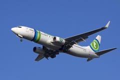 Avião comercial comercial Fotos de Stock