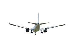 Avião comercial isolado no branco Foto de Stock