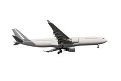 Avião comercial isolado no fundo branco com grampeamento de p Foto de Stock