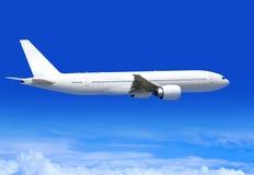 Avião comercial na aerosfera fotos de stock royalty free