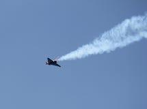 Avião controlado de rádio preto Imagens de Stock
