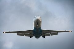 Avião da aterragem Imagem de Stock