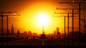 Avião da aterrissagem video estoque