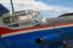 Avião da cabina do piloto Imagens de Stock Royalty Free