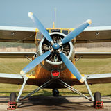 Avião da hélice imagem de stock