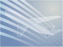 Avião da viagem aérea Fotografia de Stock
