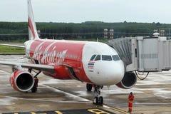 Avião de AirAsia Imagem de Stock Royalty Free