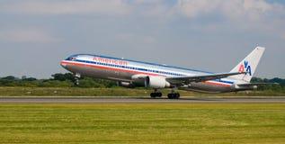 Avião de American Airlines Foto de Stock
