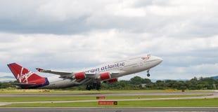 Avião de Atlântico do Virgin Foto de Stock
