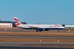 Avião de British airways Airbus A321 no aeroporto de Copenhaga Imagem de Stock Royalty Free