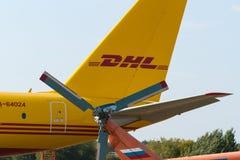 Avião de carga da Turquia 204C do Tupolev na exposição no aeródromo de Zhukovsky Imagens de Stock Royalty Free