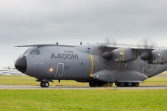 Avião de carga das forças armadas de Airbus A400M Foto de Stock Royalty Free