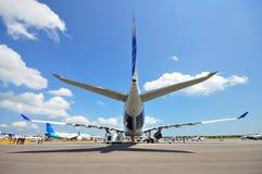 Avião de carga de Airbus A330-200F em Singapore Airshow Fotos de Stock