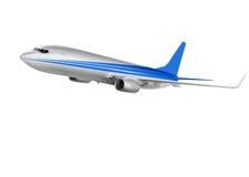 Avião de carga no fundo branco Imagem de Stock