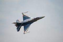Avião de combate belga do F16 da exposição da força aérea Foto de Stock