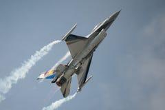 Avião de combate belga do F16 da exposição da força aérea Foto de Stock Royalty Free