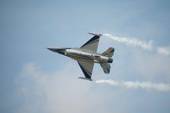 Avião de combate belga do F16 da exposição da força aérea Imagem de Stock