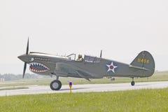 Avião de combate de P-40E WarHawk Foto de Stock