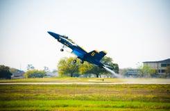 Avião de combate do anjo azul Imagens de Stock