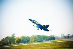 Avião de combate do anjo azul Imagens de Stock Royalty Free