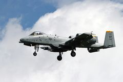 Avião de combate do raio II da força aérea de E.U.A-10 Fotos de Stock