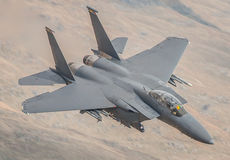 Avião de combate do U.S.A.F. F15 fotografia de stock