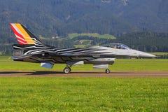 Avião de combate F16 da força aérea belga Imagens de Stock