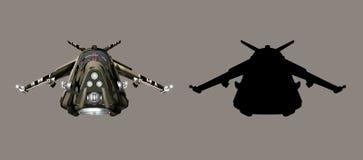 Avião de combate futurista ilustração royalty free