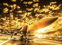 Avião de combate de McDonnell Douglas Harrier II, italiano foto de stock