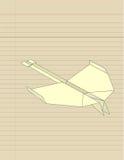 Avião de Origami ilustração royalty free