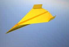 Avião de papel Imagem de Stock
