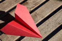 Avião de papel imagens de stock royalty free