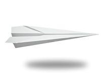 Avião de papel Fotografia de Stock