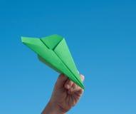 Avião de papel Foto de Stock Royalty Free