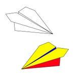 Avião de papel ilustração royalty free