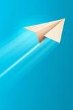 Avião de papel Foto de Stock