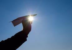 Avião de papel em sua mão Foto de Stock Royalty Free