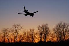 Avião de passageiros Fotos de Stock