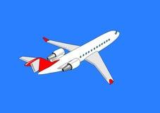 Avião de passageiros Imagem de Stock Royalty Free