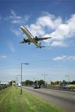 Avião de passageiros fotografia de stock