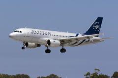 Avião de passageiros checo em cores de Skytem Imagens de Stock