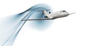 Avião de passageiros comercial ilustração do vetor