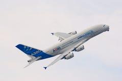 Avião de passageiros de Airbus A380 Fotos de Stock