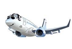 Avião de passageiros dos desenhos animados do vetor ilustração royalty free