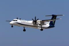 Avião de passageiros grego da turboélice Fotos de Stock Royalty Free