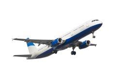 Avião de passageiros isolado do jato Fotos de Stock Royalty Free