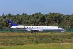 Avião de passagem belga da força aérea Imagens de Stock Royalty Free