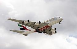 Avião de passagem da plataforma do dobro de Airbus A380 Foto de Stock