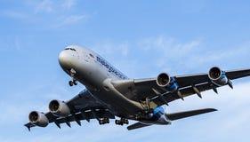 Avião de passagem de Malaysia Airlines Airbus A380 Fotografia de Stock